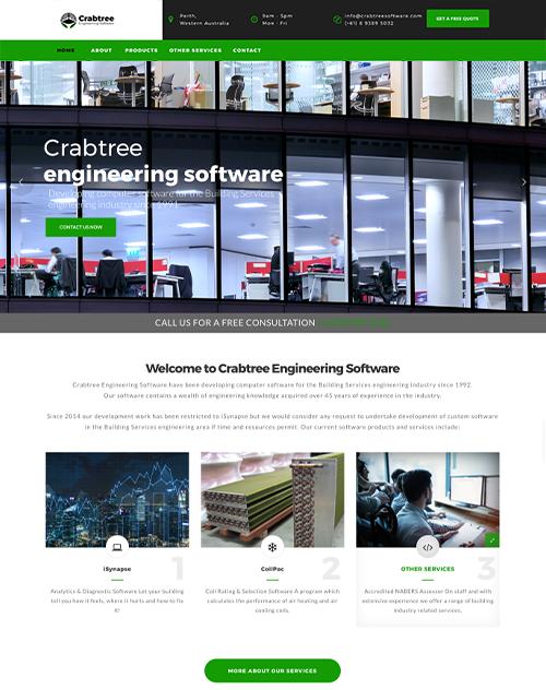 Crabtree Engineering Software Website Design Project