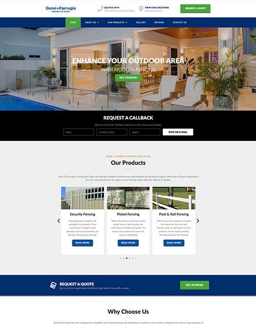 Dunn & Farrugia Website Design Project