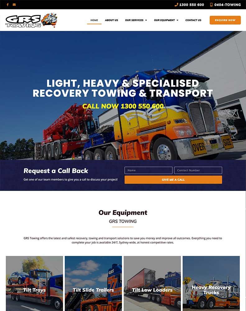 GRS Towing Website Design Project