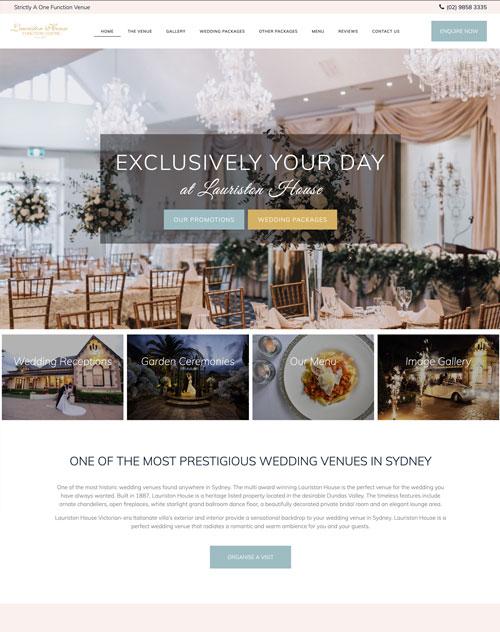 Lauriston House Website Design Project