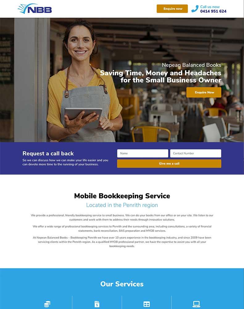Nepean Balanced Books Website Design Project