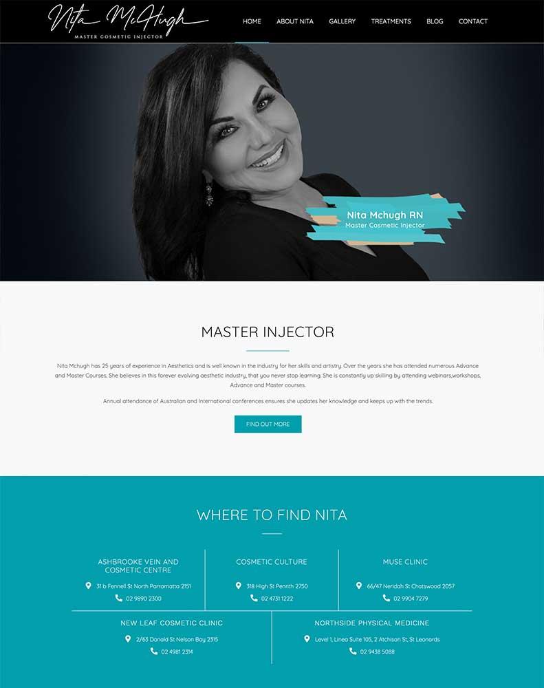 Nita Mchugh Website Design Project