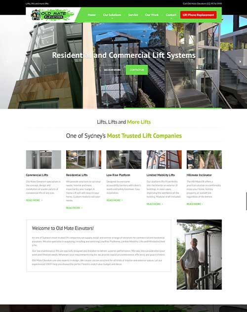 Old Mate Elevators Website Design Project