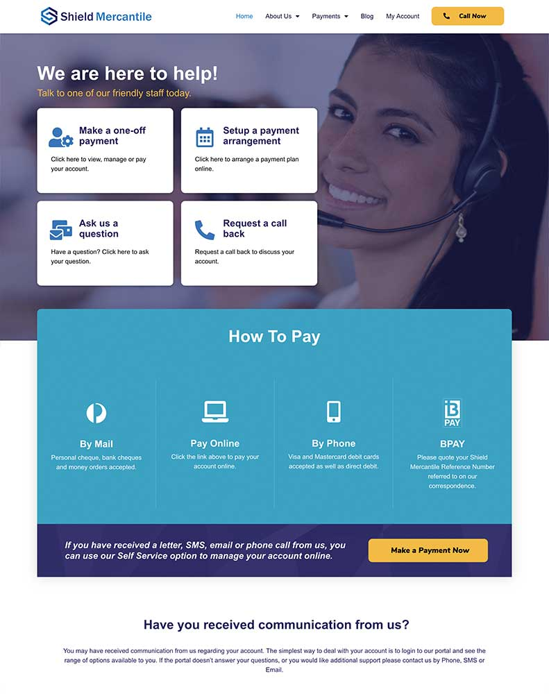 Shield Mercantile Web Design Project