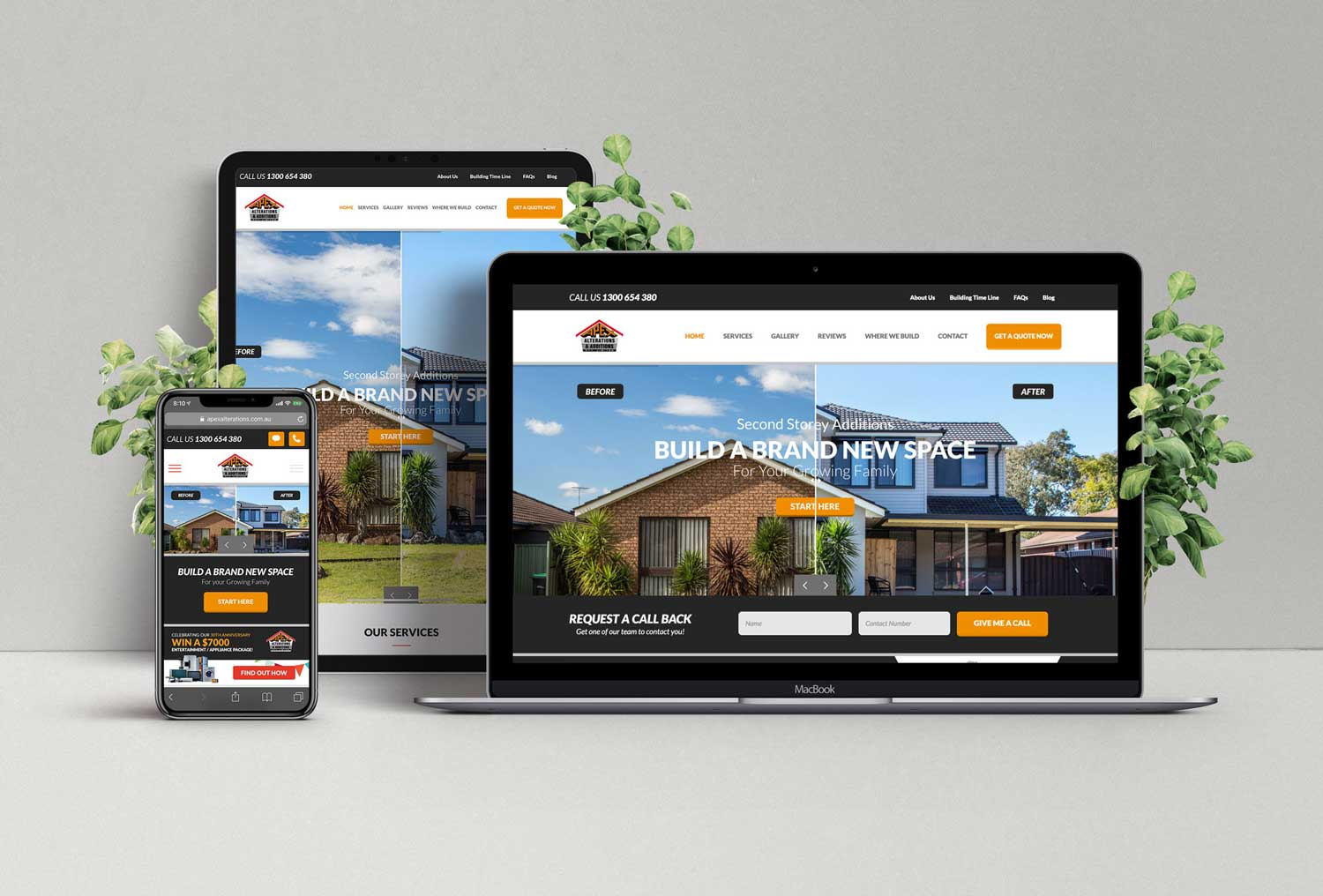 Apex Alterations & Additions Website