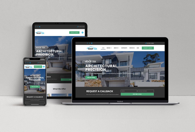 Roof Tek Website Design